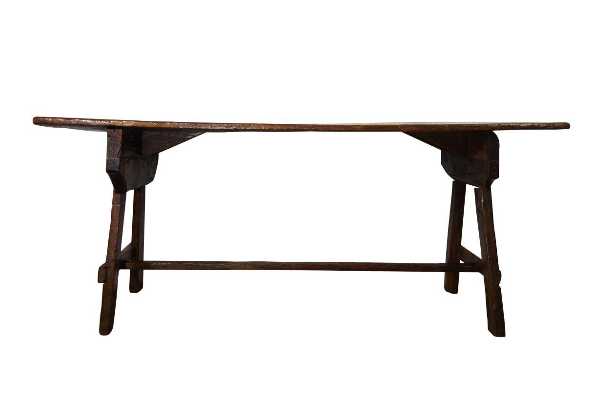 Antique Italian Tuscan Farm Capretta Table