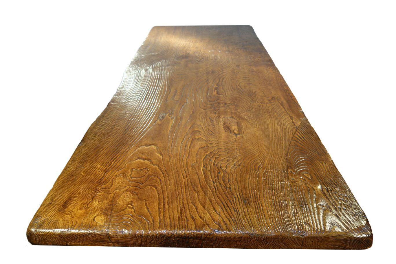 Single plank chestnut table top.