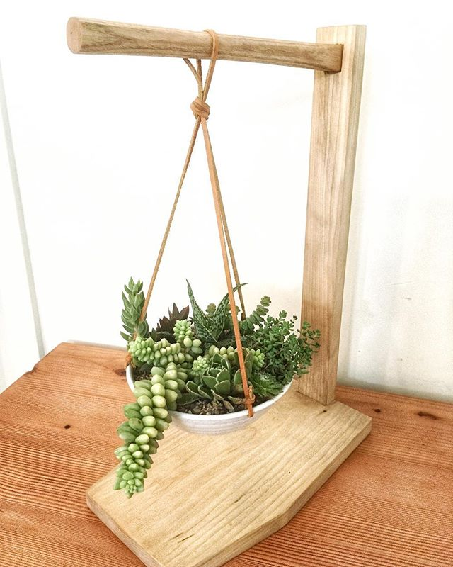 Last weekend of our pop up @goldandrust —— Tomorrow we will be taking off 20% of EVERYTHING so come get some one of a kind wares for your home. Plants stand made by me, Succulents by @westwindsucculents  #oakland #shoplocal #buyhandmade