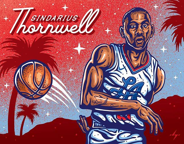 My latest #nba piece for @benchonaquest, a really awesome #laclippers page dedicated to supporting the Clippers and their bench players. They have some really amazing art already, and it was a blast getting to add to their collection! Player is @s_thornwell0, a rookie who lead the @southcarolinagamecocks to the final four last year! . . . #clippers #clippersart #laart #losangeles #nbaart #basketballart #illustration #illustrators #fanart #nbaillustrators #drawdaily #lac #clippernation #lobcity #benchonaquest #sindariusthornwell #thornwell #vector #letsgoclips #blakegriffin #gamecocks #southcarolina #finalfour #nike #bleacherreport #clippersfan #hollywood #retro