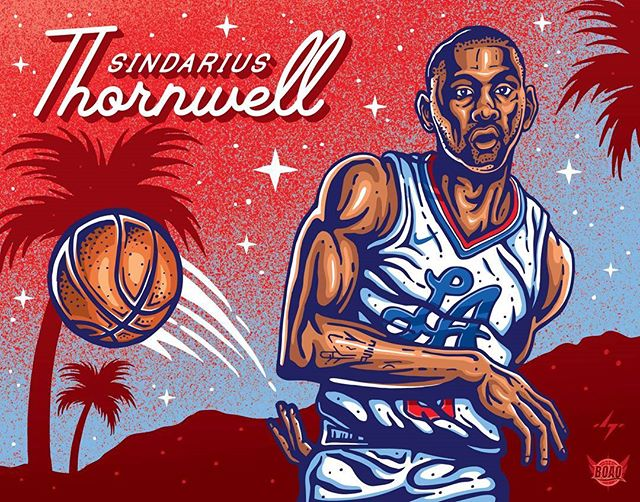 My latest #nba piece for @benchonaquest, a really awesome #laclippers page dedicated to supporting the Clippers and their bench players. They have some really amazing art already, and it was a blast getting to add to their collection! Player is @s_thornwell0, a rookie who lead the @southcarolinagamecocks to the final four last year! . . #clippers #clippersart #laart #losangeles #nbaart #basketballart #illustration #illustrators #fanart #nbaillustrators #drawdaily #lac #clippernation #lobcity #benchonaquest #sindariusthornwell #thornwell #vector #letsgoclips #blakegriffin #gamecocks #southcarolina #finalfour #nike #bleacherreport #clippersfan #hollywood #retro