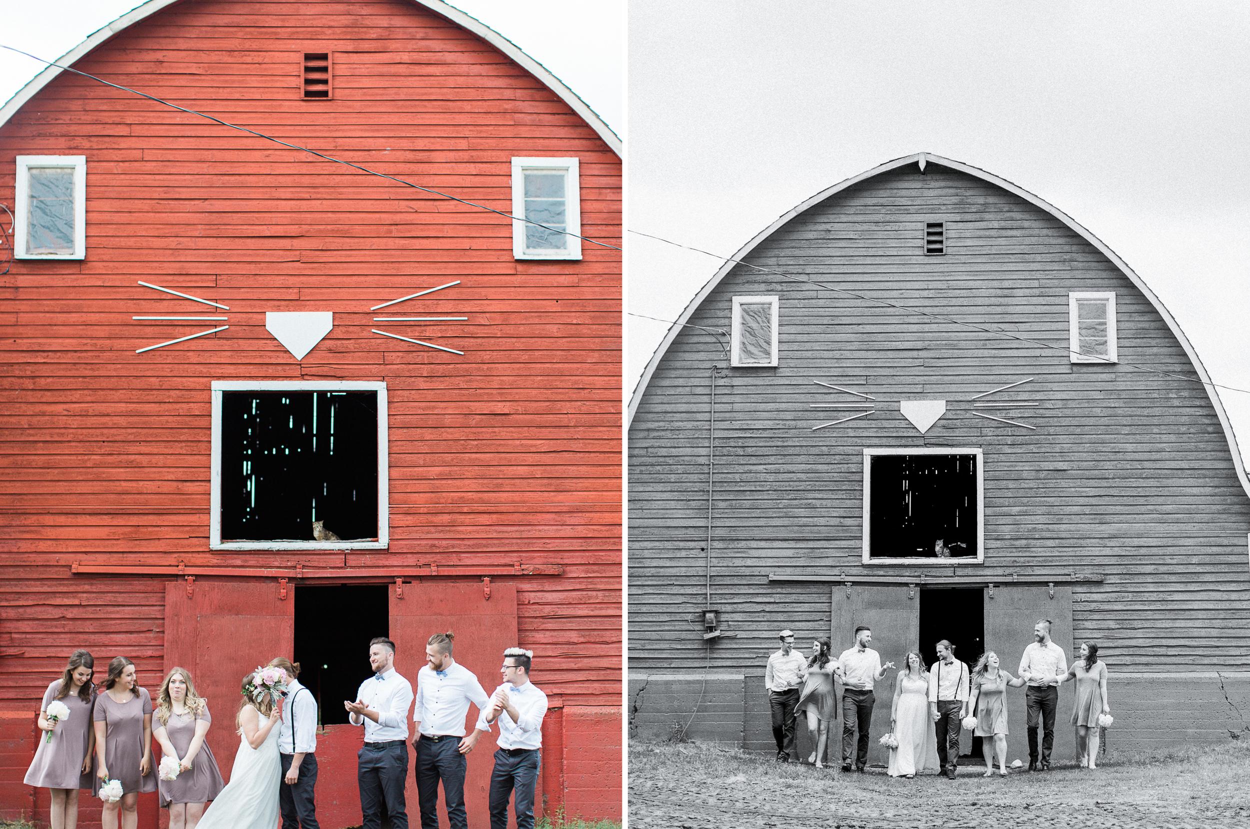 Alberta Acreage Ranch Barn Wedding Photographer Calgary AB