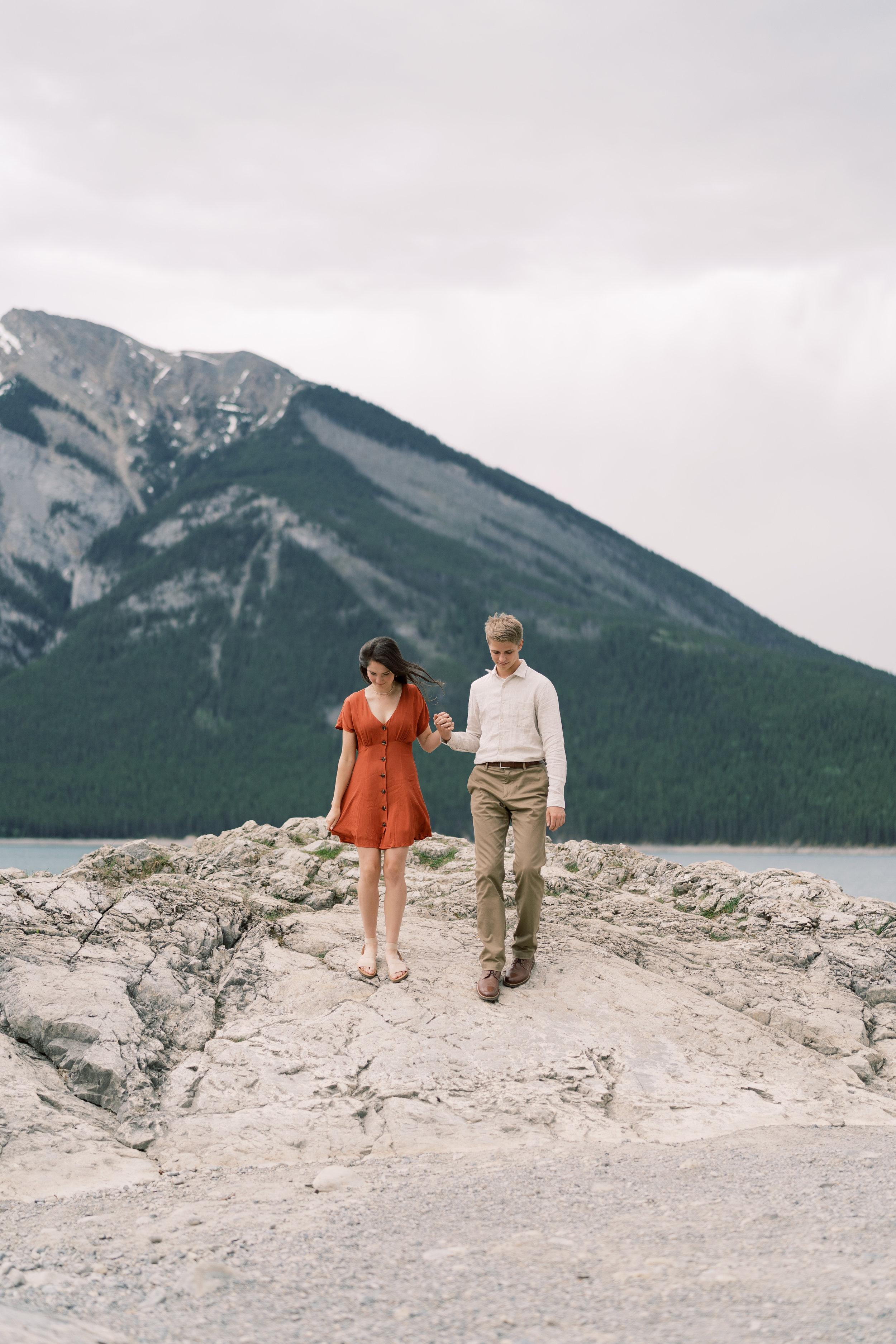 Banff Calgary Engagement Photographer Lake Minnewanka Photography