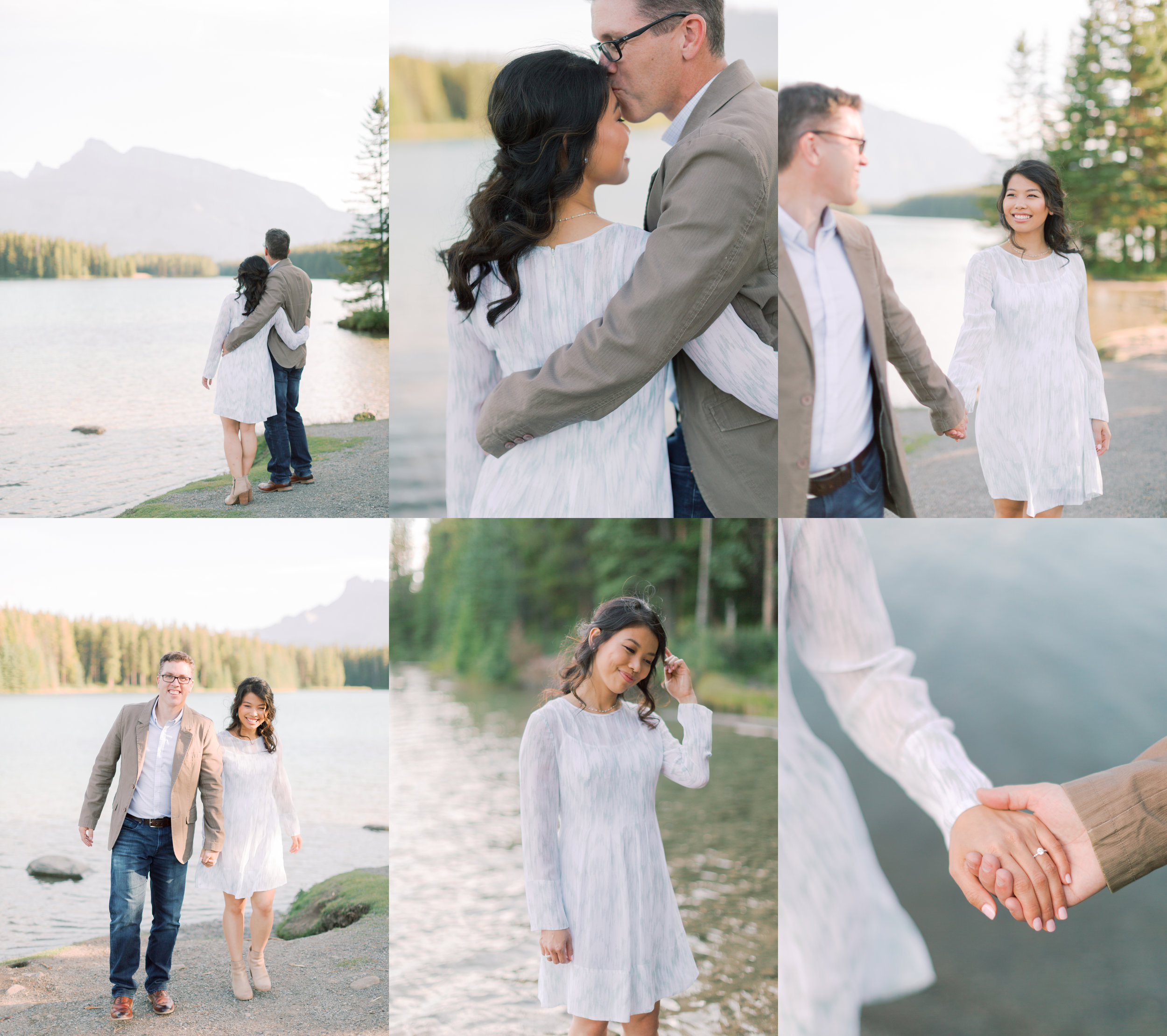 two jack lake engagement photographer | banff engagement photography
