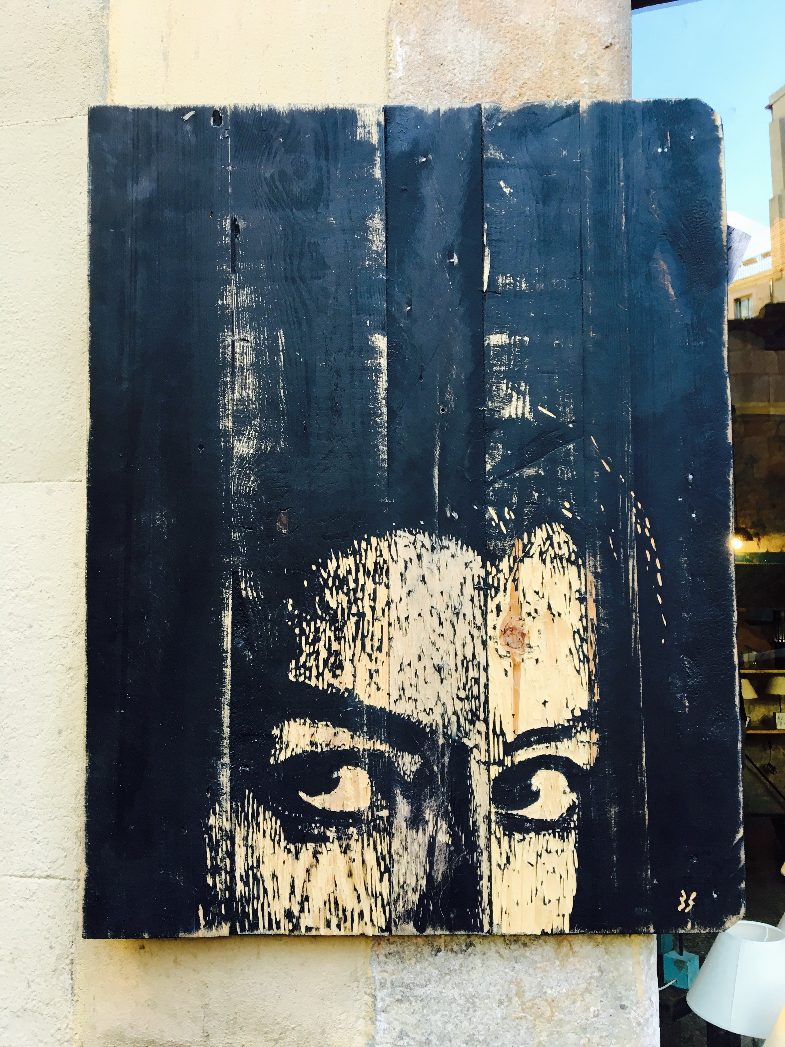 Wall Art (that happens to look a lot like me). - Barcelona, Spain (2016).