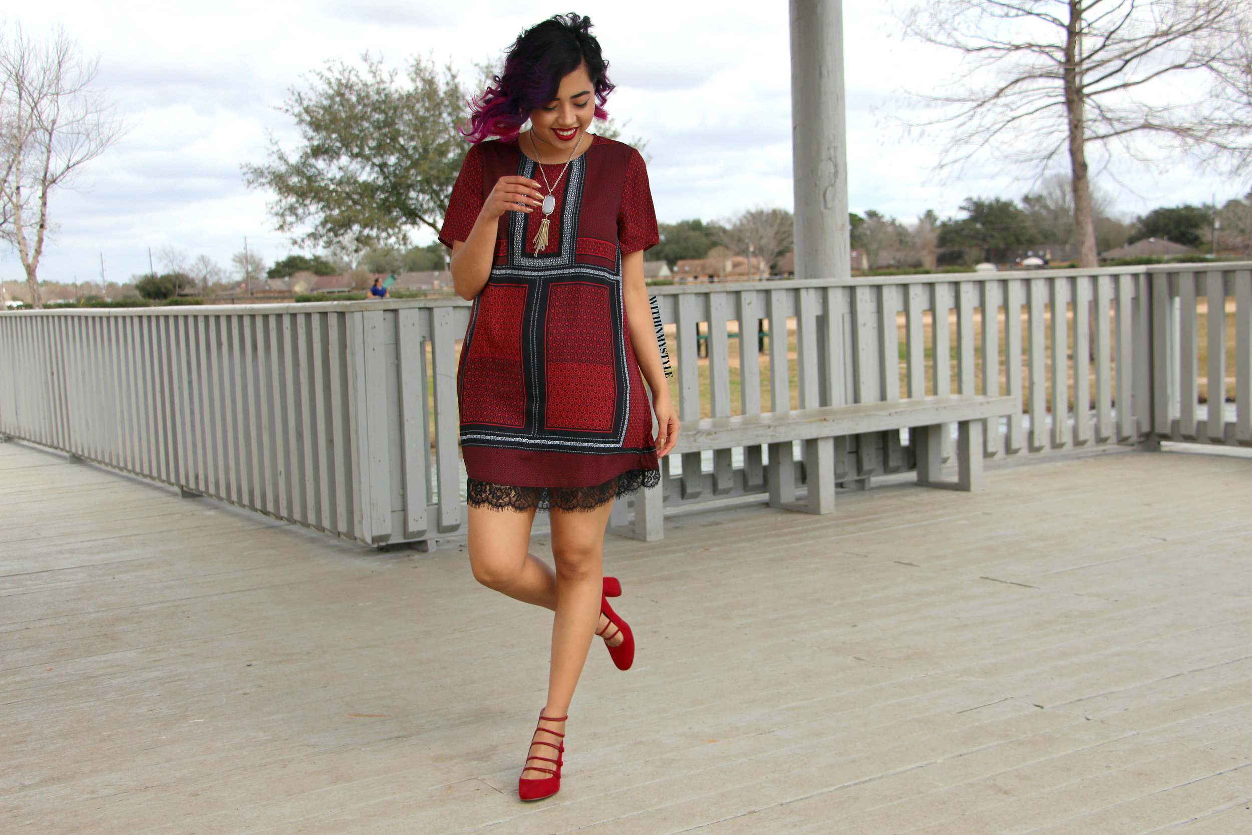 3 ways to style a red dress for Valentine's day...