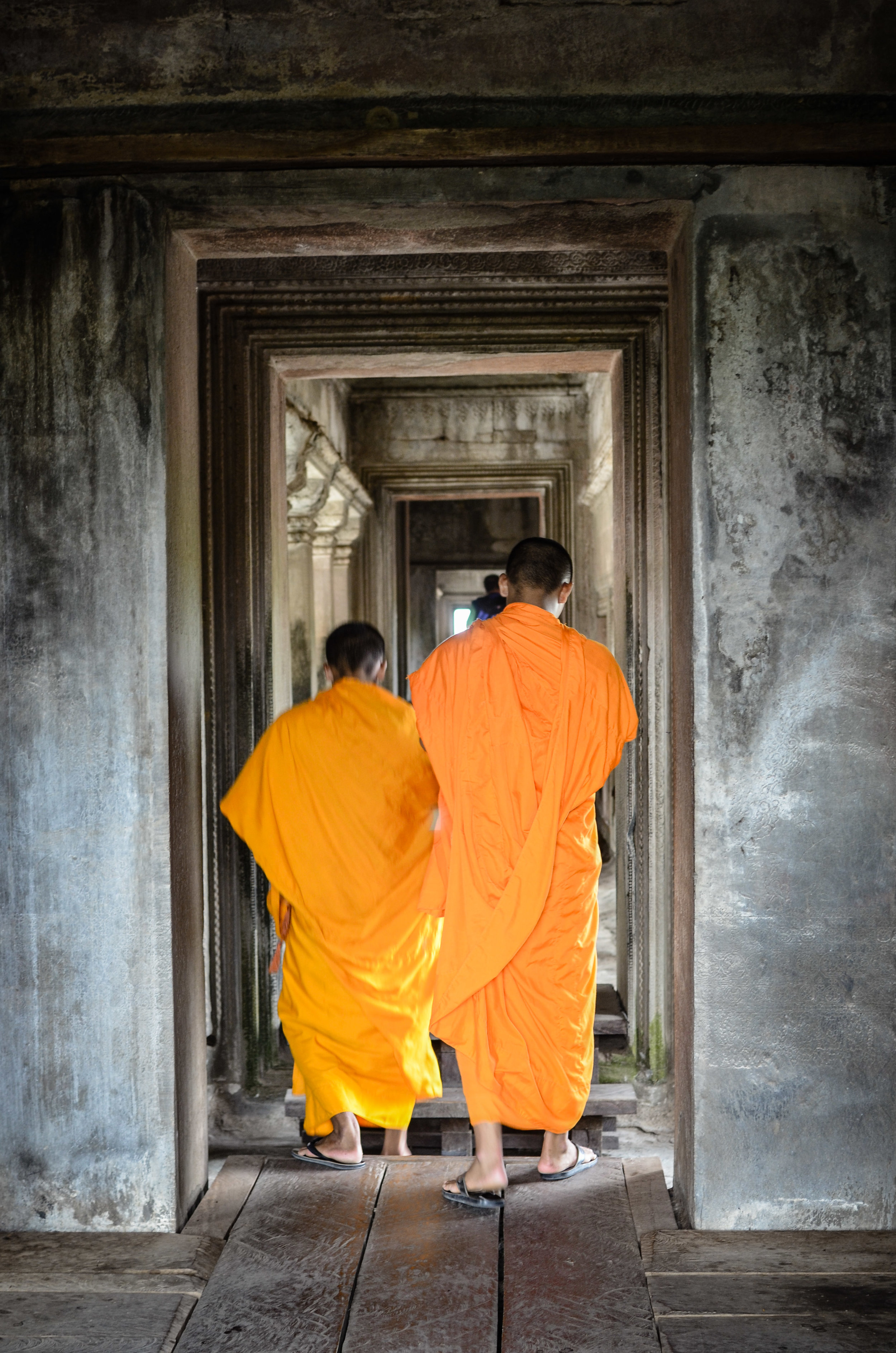 Buddhist monks, Angkor Temples, Cambodia
