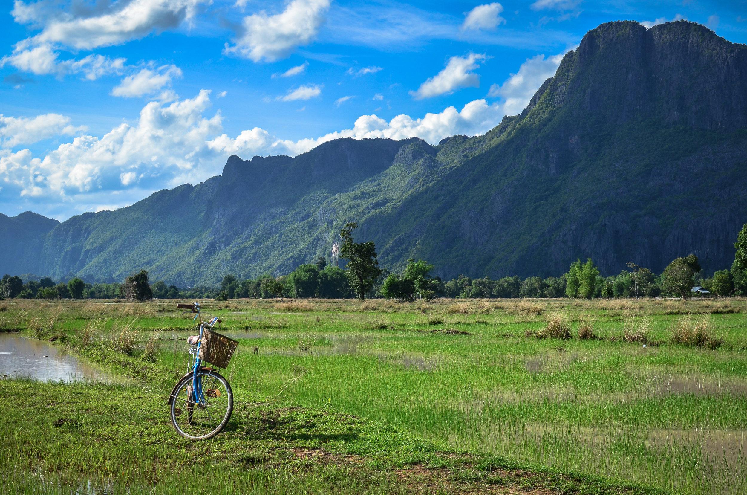 Bicycle in Ban Lao, Laos