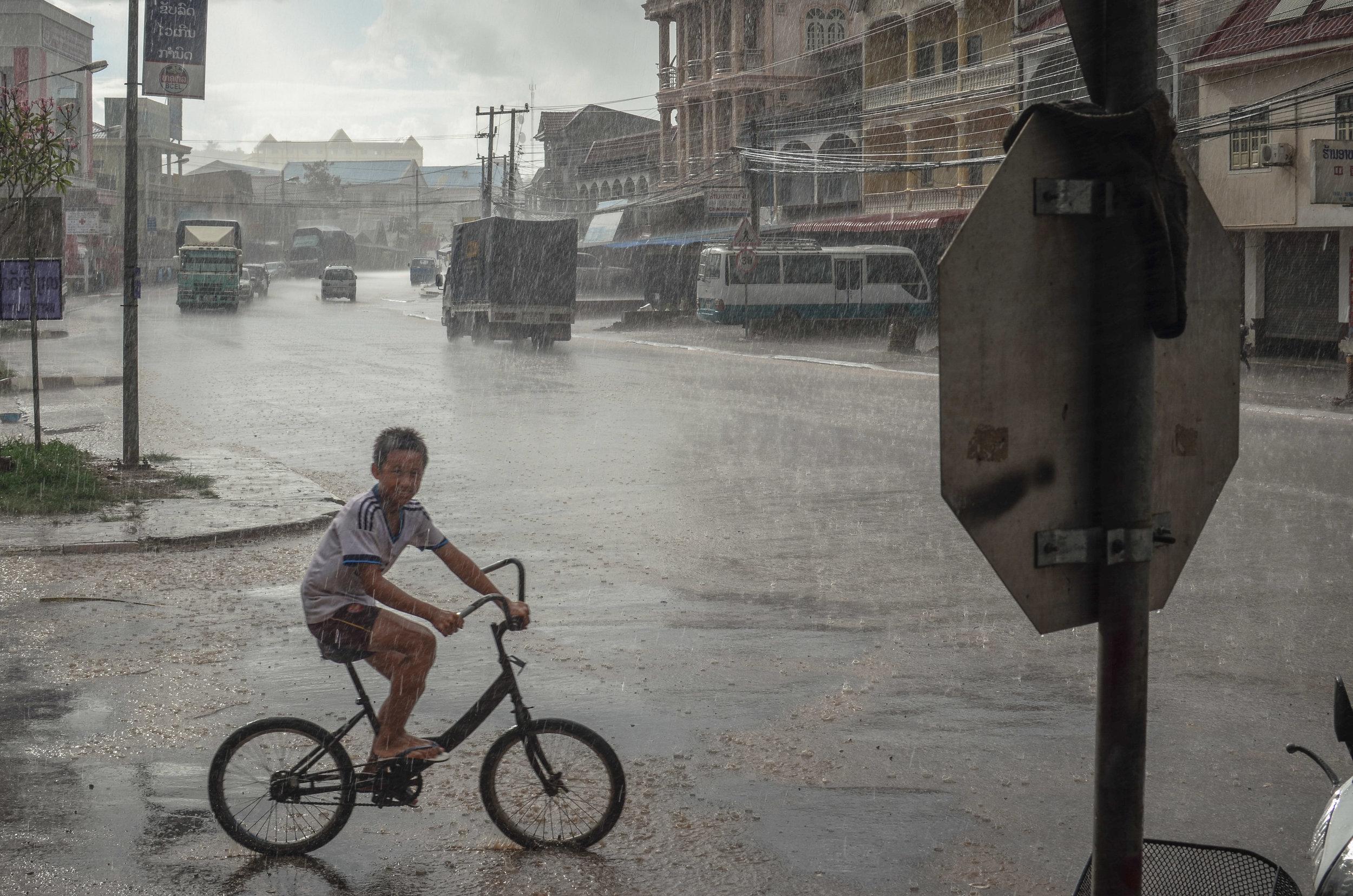 Bicycle in Muang Xai, Laos