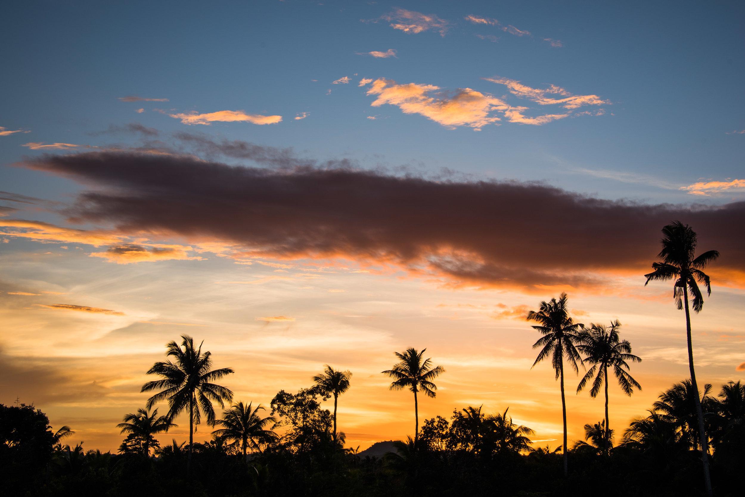 Sunset over Siquijor Island, Philippines