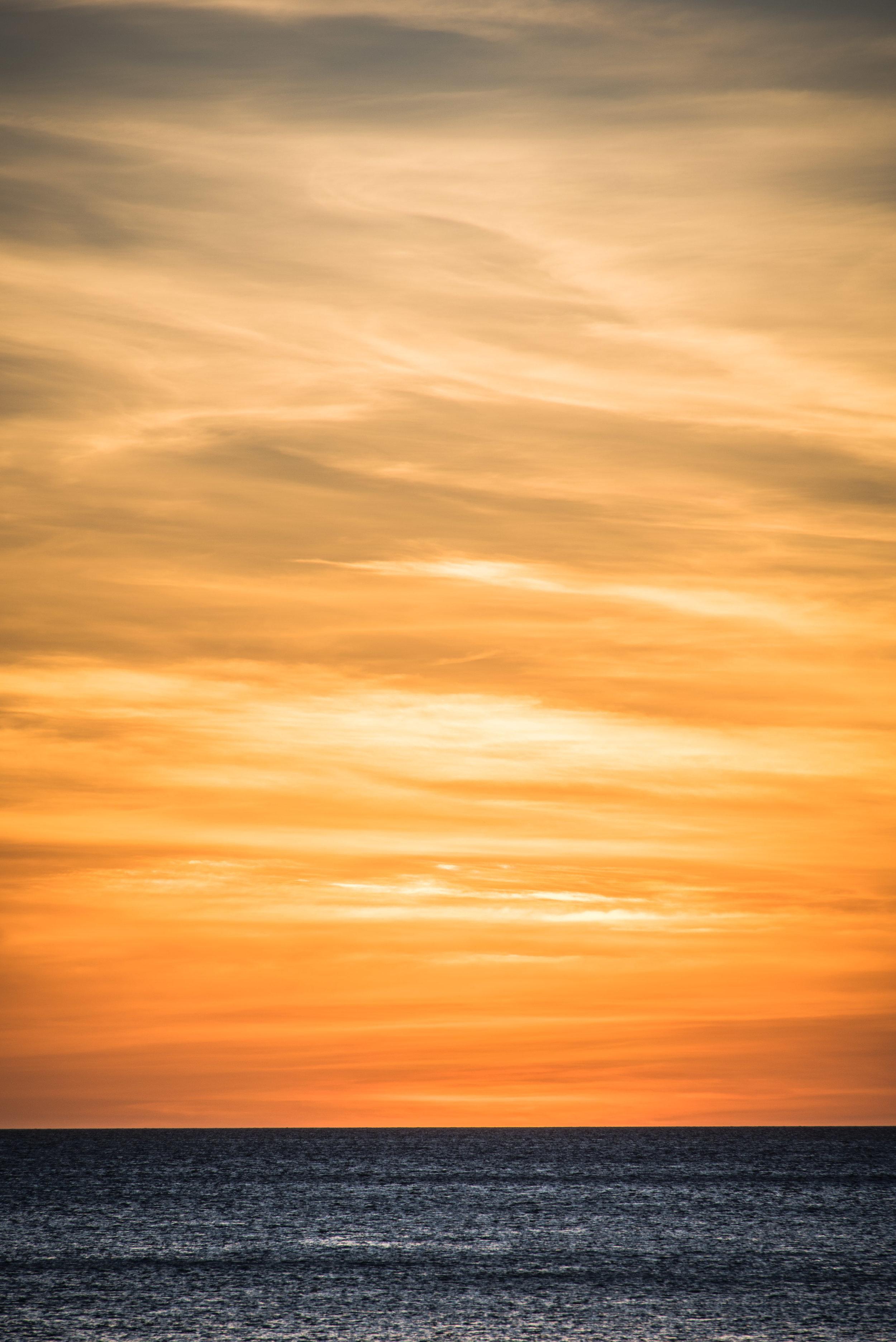 Sunset over Bohol sea