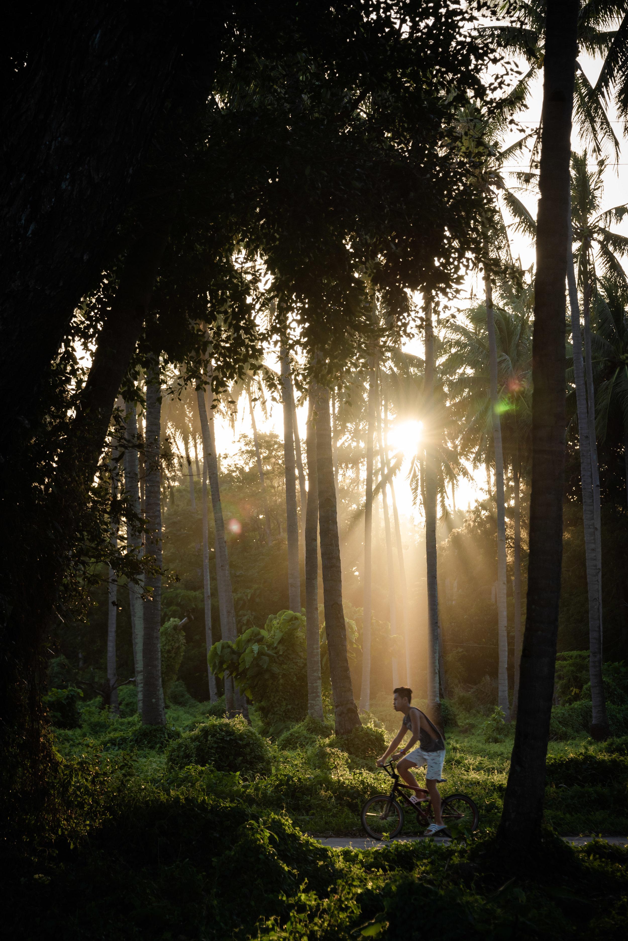 Sunset from Kite In Negros' shack, Zamboanguita, Negros Island, Philippines