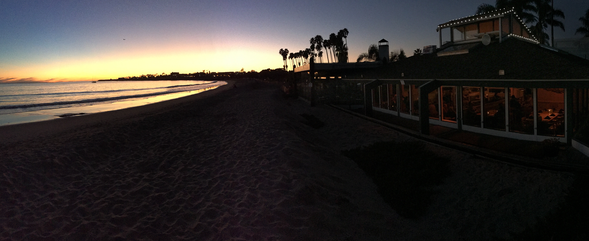 Beachside Restaurant Goleta Sunset, January 2016
