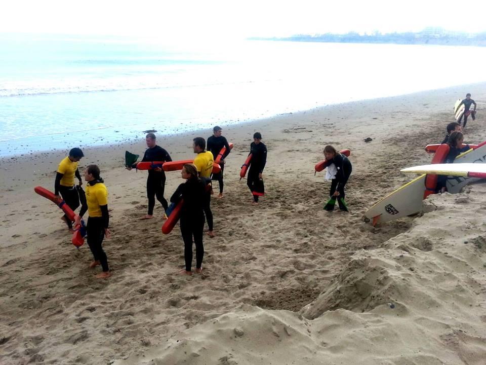 Goleta Beach Lifeguard Trainning