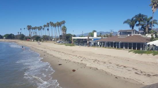 Beachside View from Goleta Beach Pier