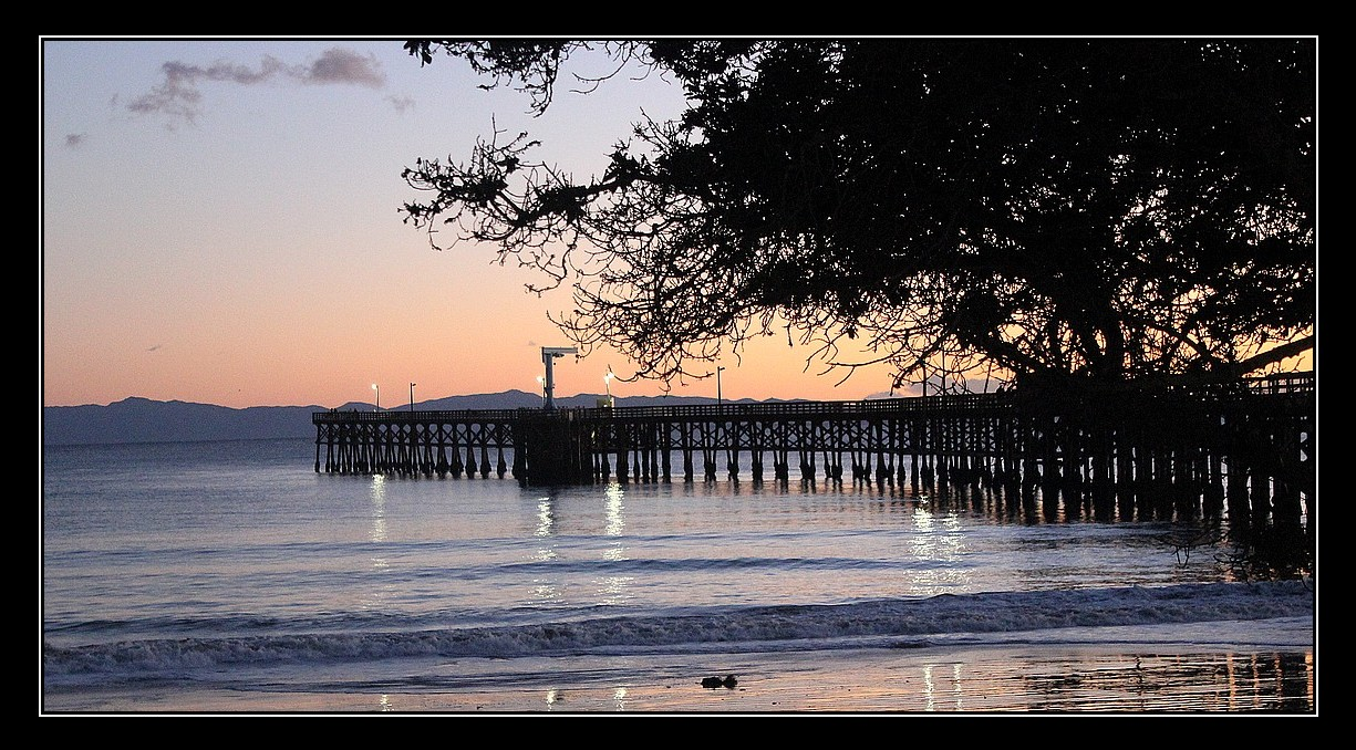 A shot from the east side of Goleta Beach