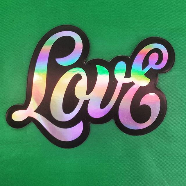 Thanks so much for the iridescent sticker @nickmisani, such beautiful letterforms!! It was lovely to meet you in Melbourne and hope you had a great time in Aus. . . . . . . #lettering #handlettering #design #typism #love #rainbow #type #sticker