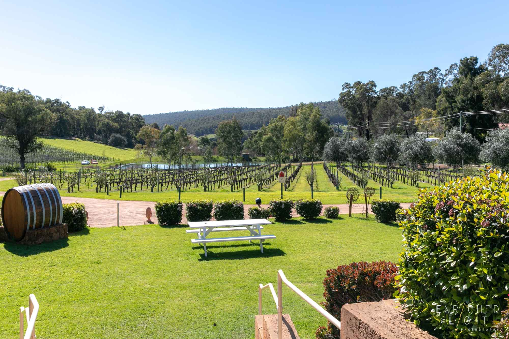 Setup a picnic at Myattsfield Vineyards and take in the view