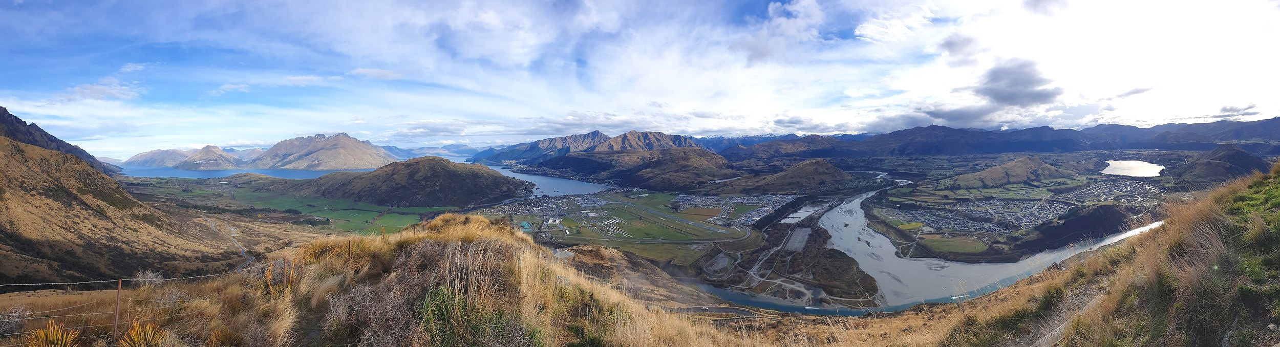 The view over the Wakatipu Basin from The Remarkables Lookout