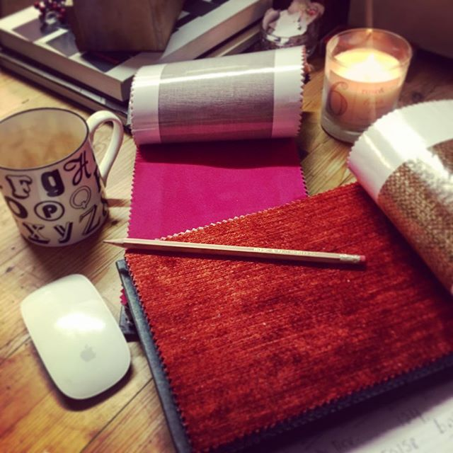 Working on some amazing autumn  upholstery for a lovely customer today #roseandleeinteriors #upholstery #newsofa #interiors #bespoke #design #handmade #fabric #velvets #colourpop #prestwich #manchester