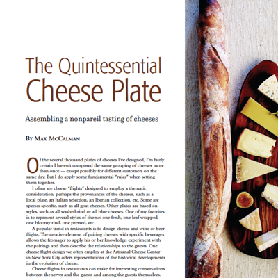The Quintessential Cheese Plate