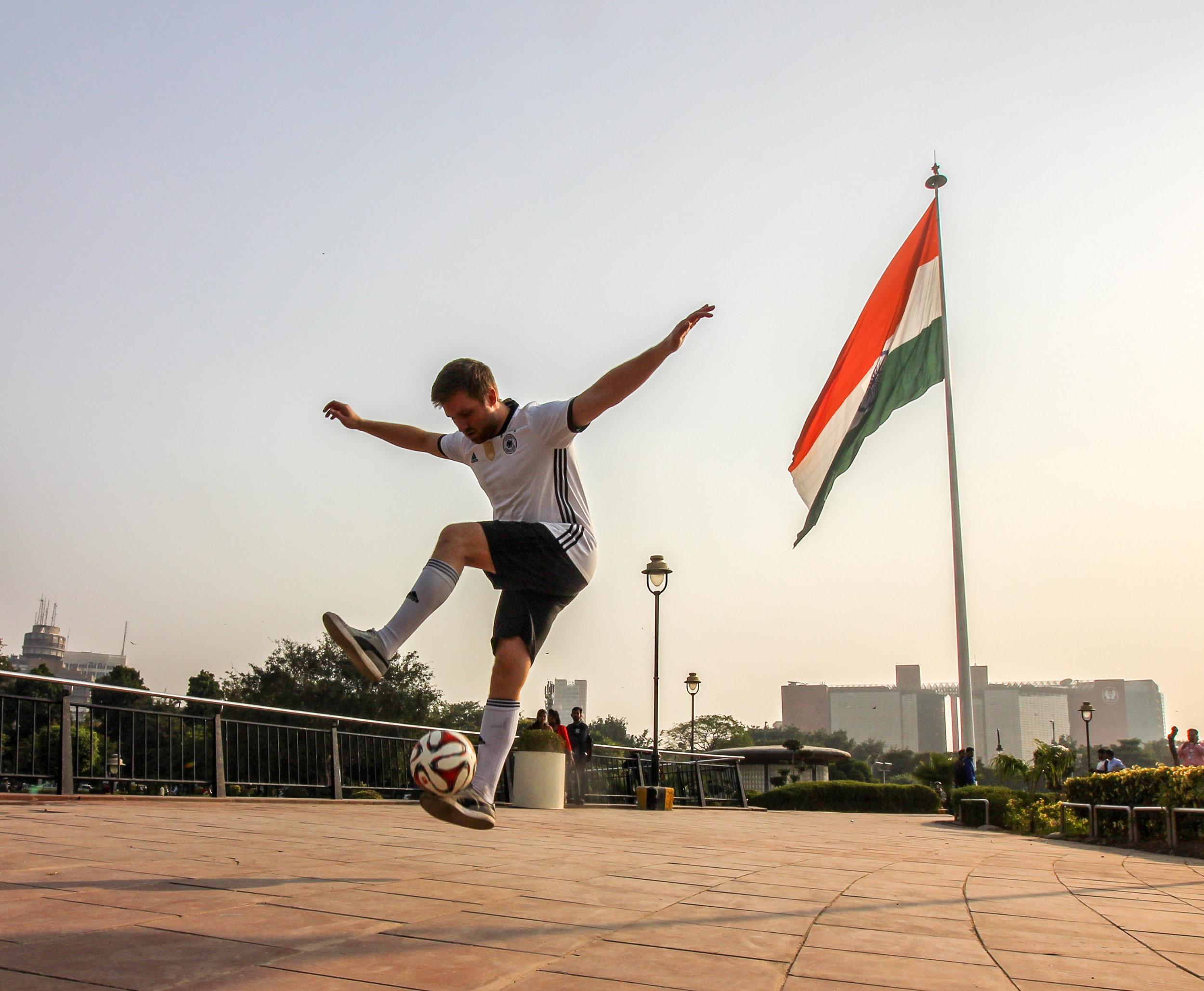 Fußball Freestyler als Botschafter in Indien