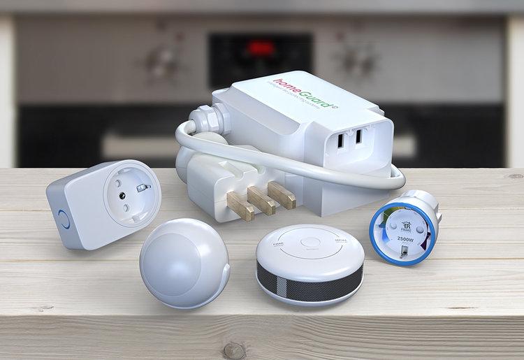 homeGuard kan levers som skreddersydd løsning, men kommer også i ferdige pakkeløsninger for kjøkken, stue, vaskerom m.m.