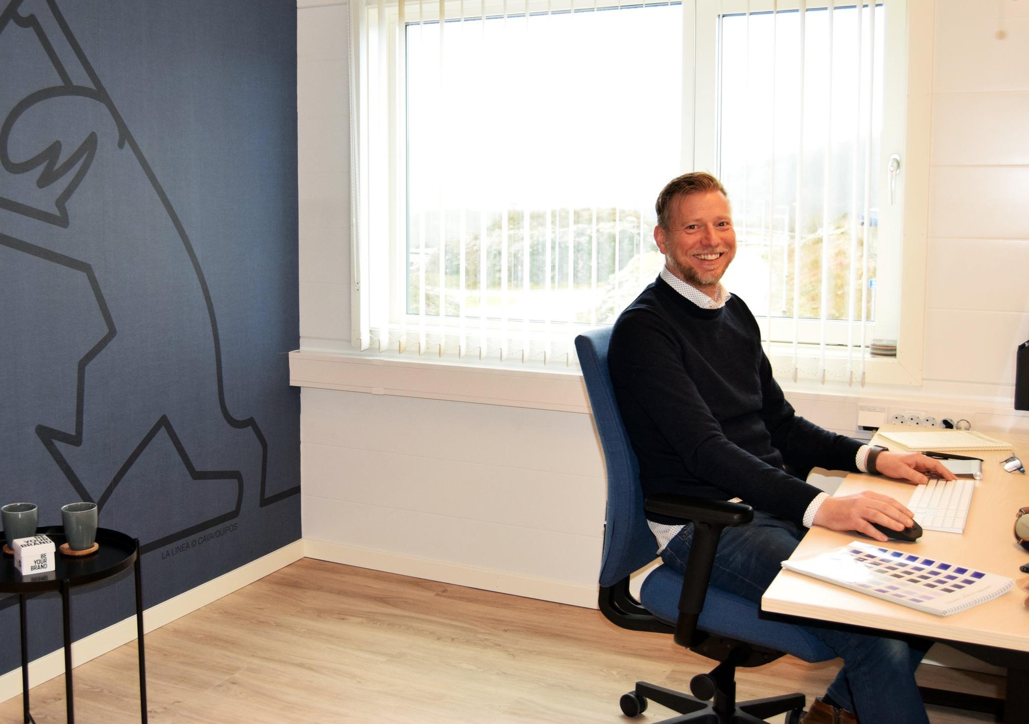 Frode Olsen er på plass i sin nye stilling som kreativ leder for Reklamehuset.