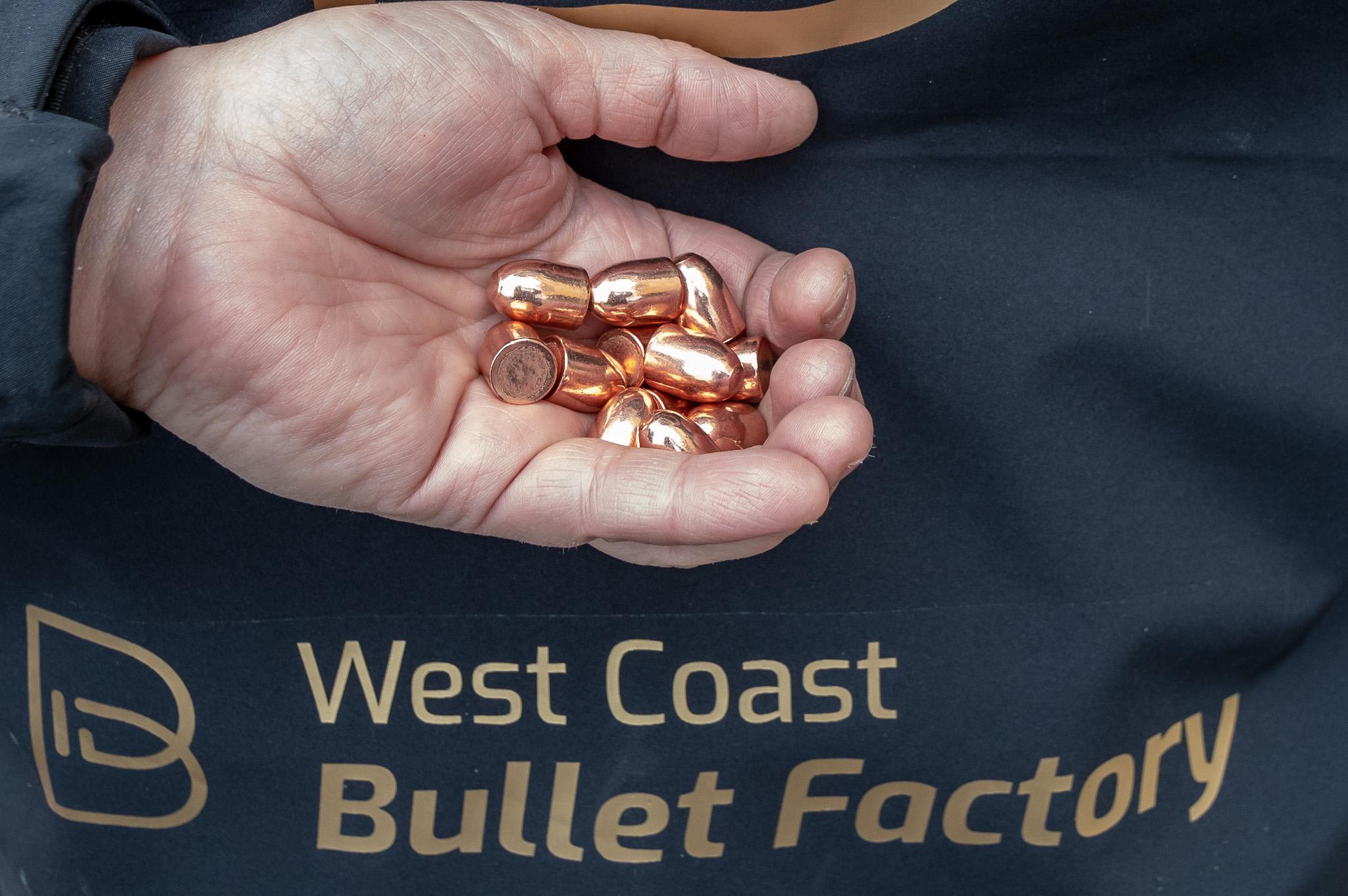 West Coast Bullet Factory er landets eneste produsent av prosjektiler for håndvåpen.
