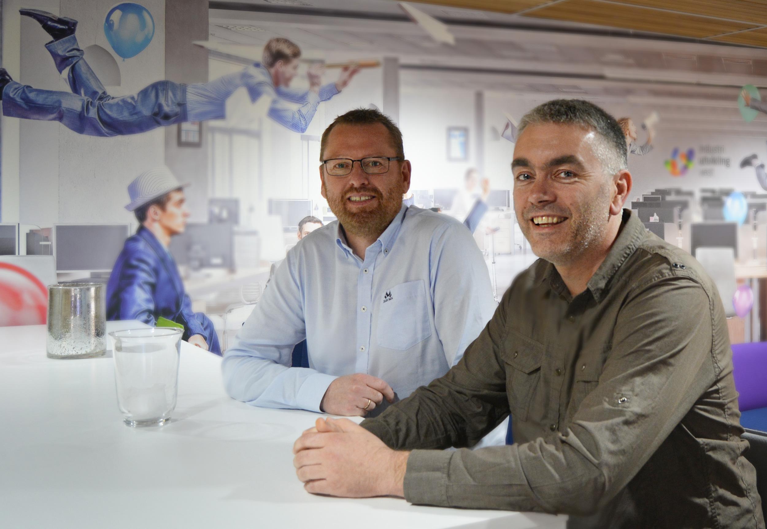 Skiftesvik og Sundt i Alver IT er klar for å serve kunder fra sin plass i gründermiljøet i Dampen.