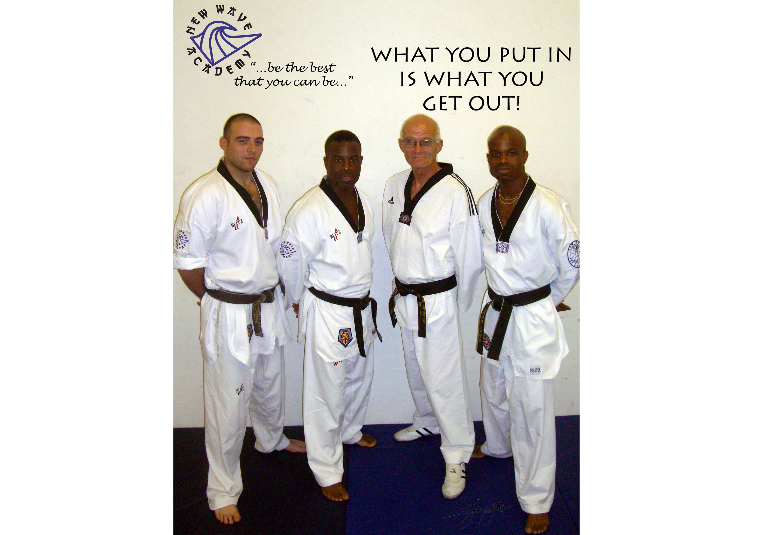 From left to right:       Nicky Loizou   ,  Cliff Edwin, Master Phil Somerset ,Alex Edwin