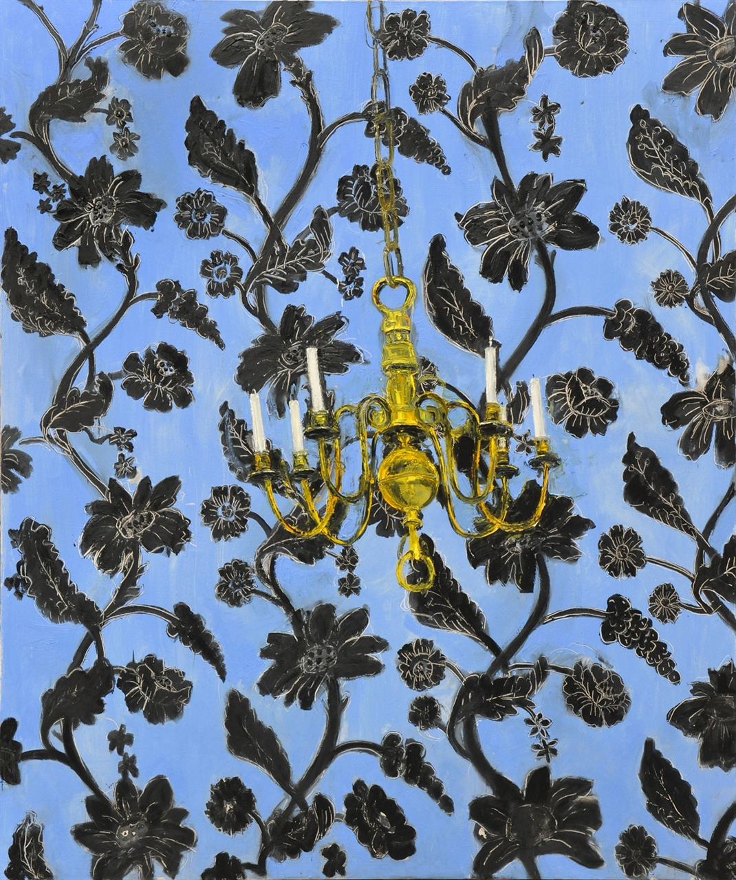 Candelabra on Blue Wallpaper, 2012