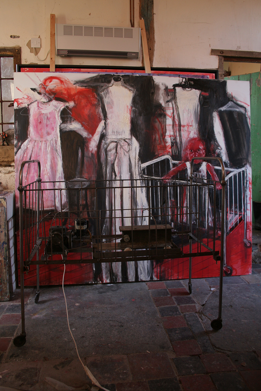 Inner Room and Shaking Cot in Shani Rhys James' studio