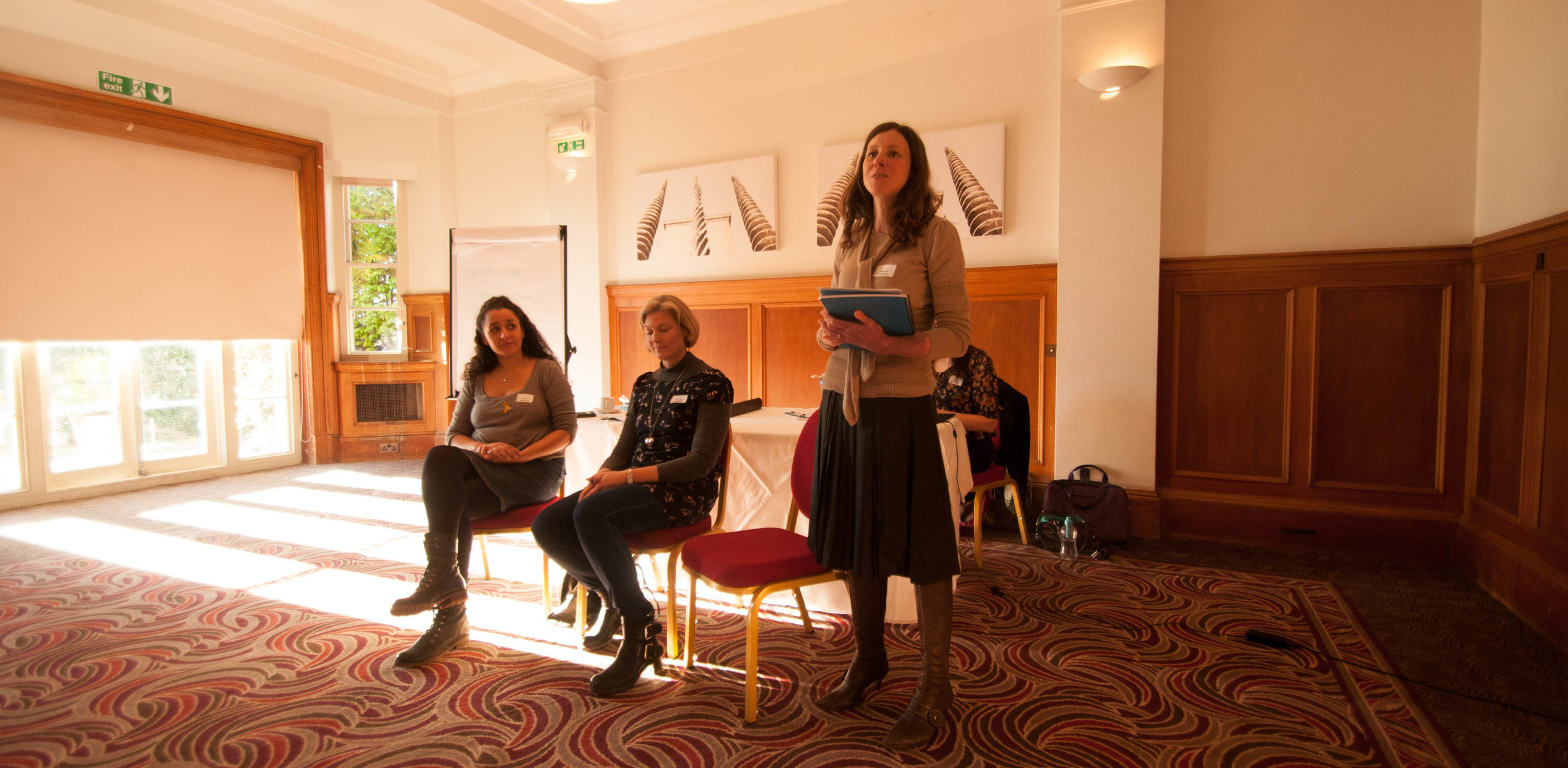 Marisa Guthrie speaking at Lewes Women in Business meeting 2016