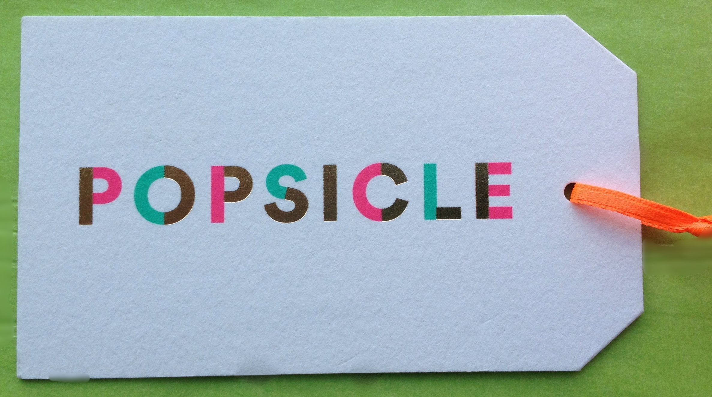 Popsicle Gift Tag/Business Card