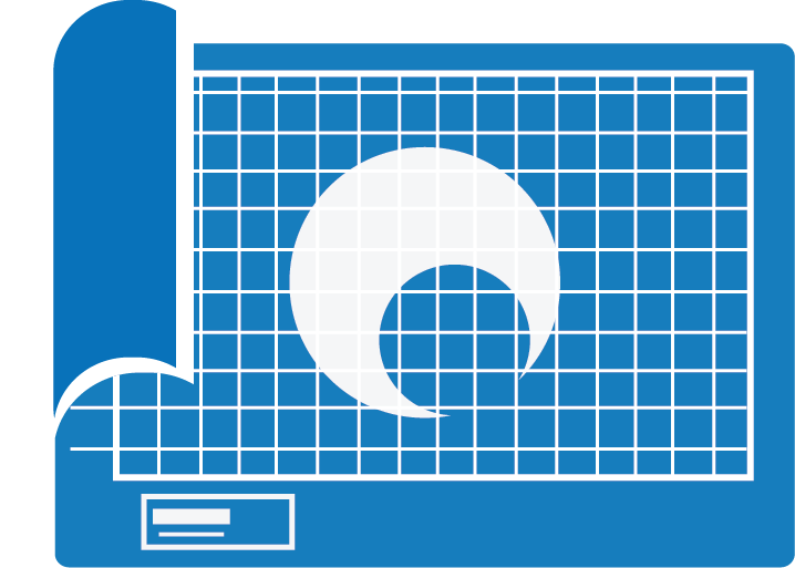 Graphic of blue print for Branding image