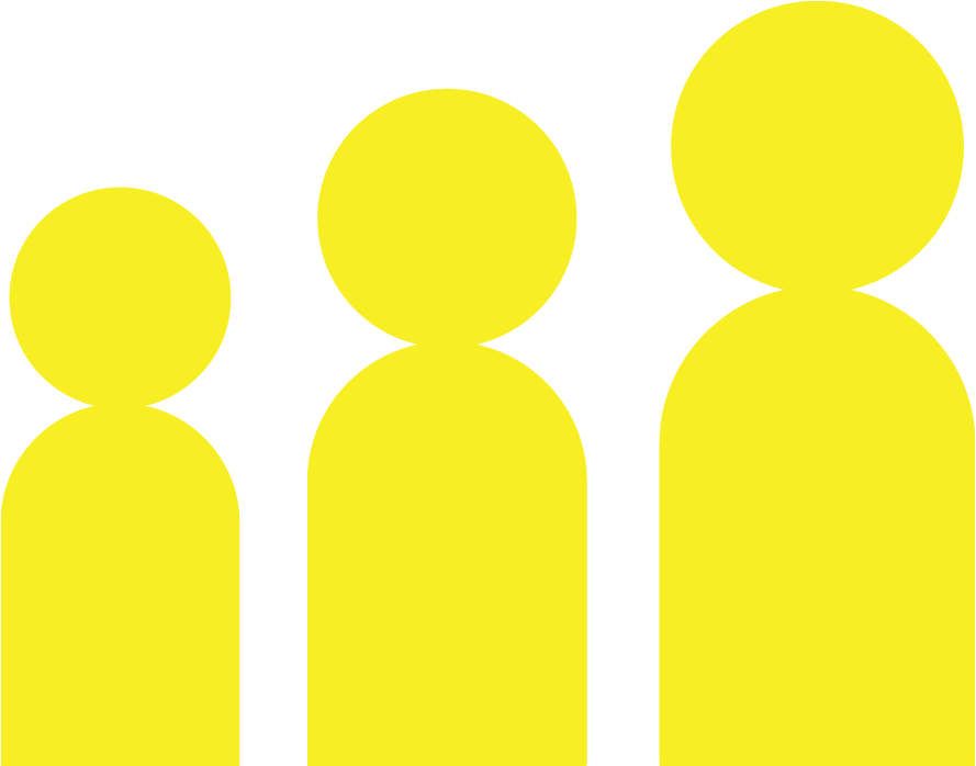 Three yellow men graphic about Confidence Building