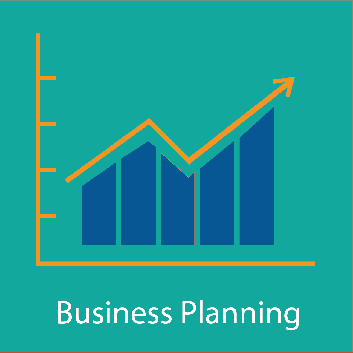 Graph showing business growth graphic