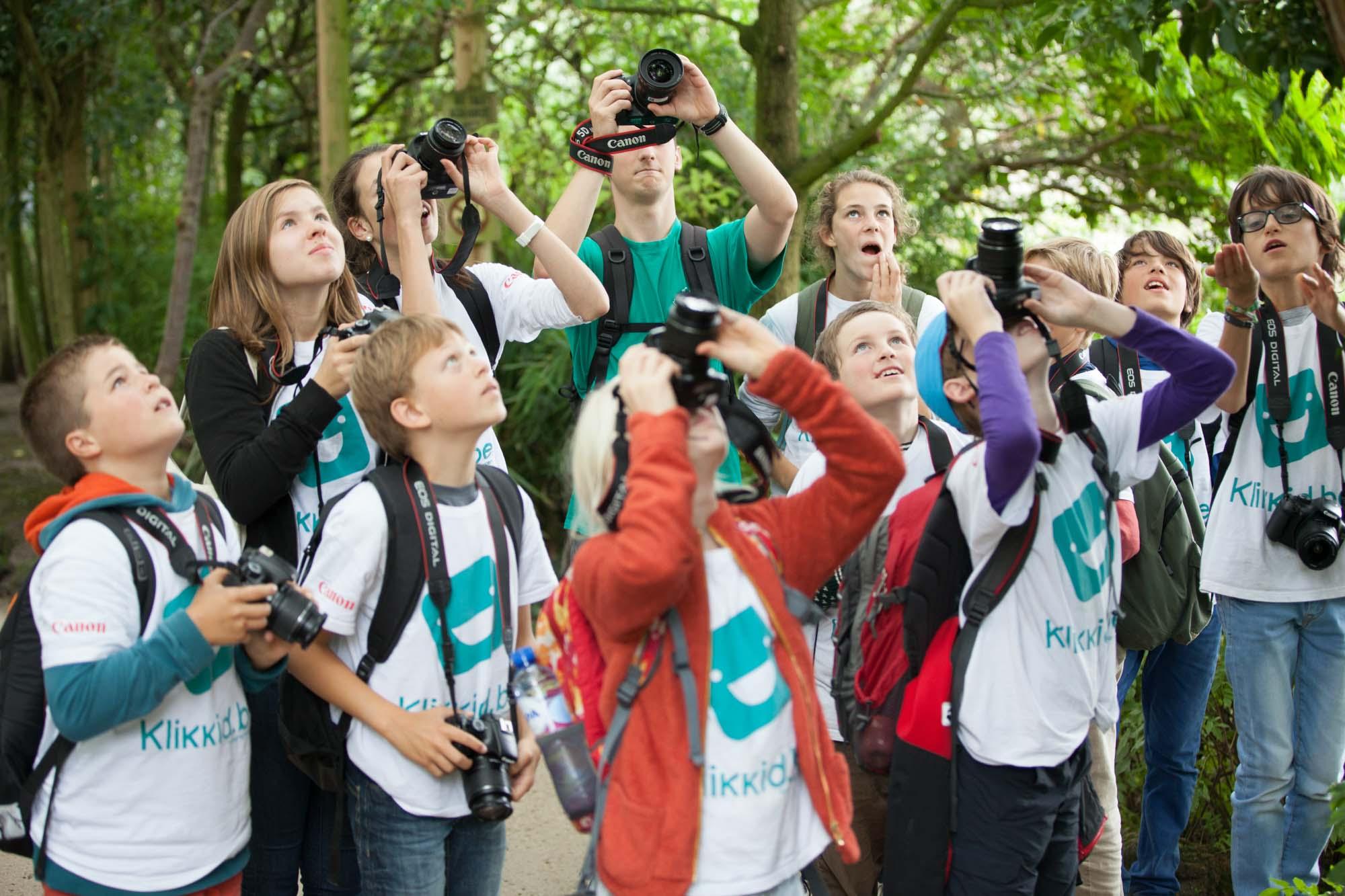 Bezoek aan het dierenpark tijdens het fotografiekamp.