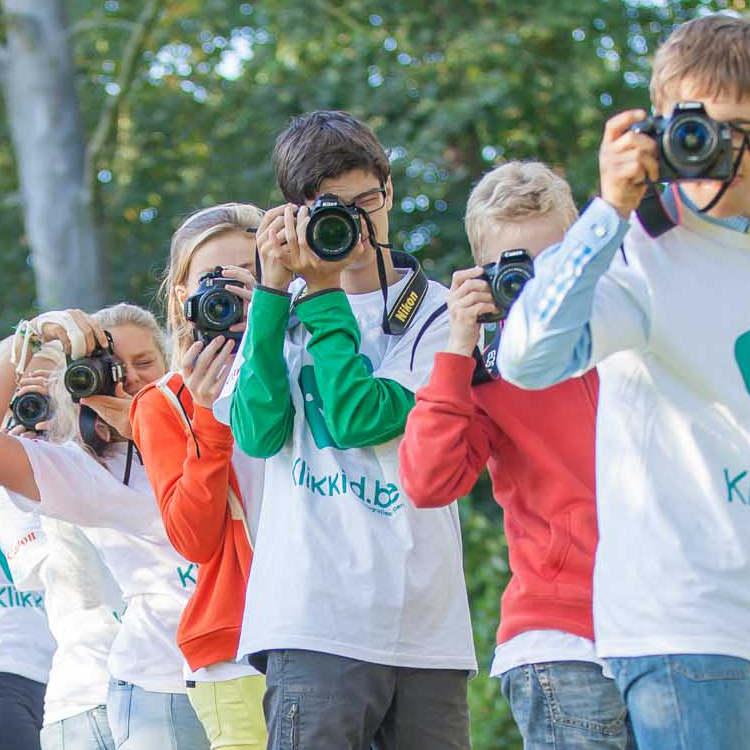 Beginners fotografiekamp voor kinderen.