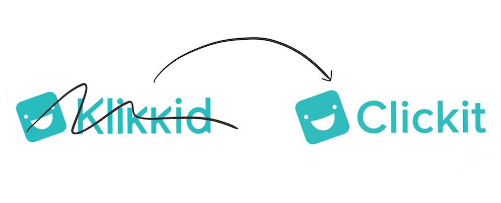 Het nieuwe Clickit logo. Vroeger Klikkid.