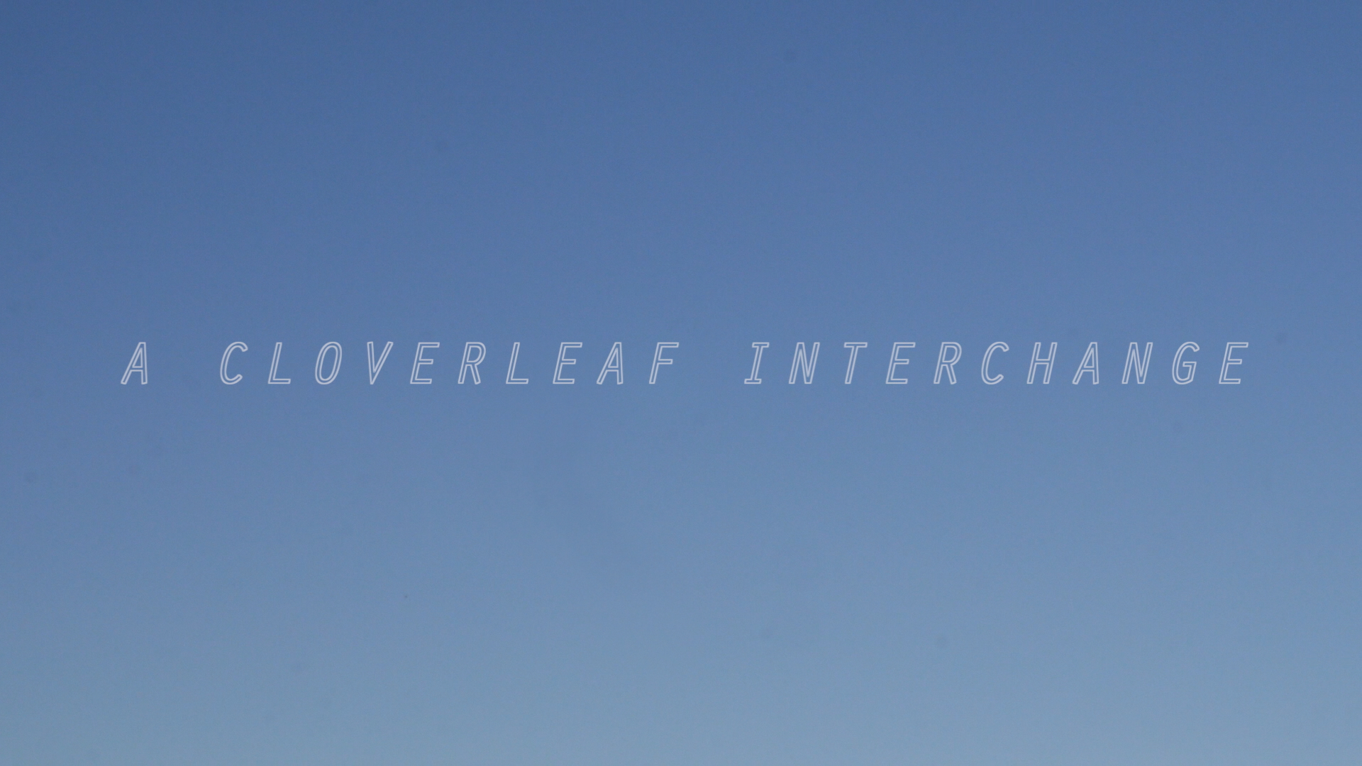 A Cloverleaf Interchange  (2017) is a work for video and live performer.  It has been performed at Mills College, Pro Arts Gallery, Aurora Providence, and the Lightfield Film Festival.  SYNOPSIS: A driver and passenger misread a highway sign, sparking a sequence of dreams in the passenger and a sequence of daydreams in the driver.