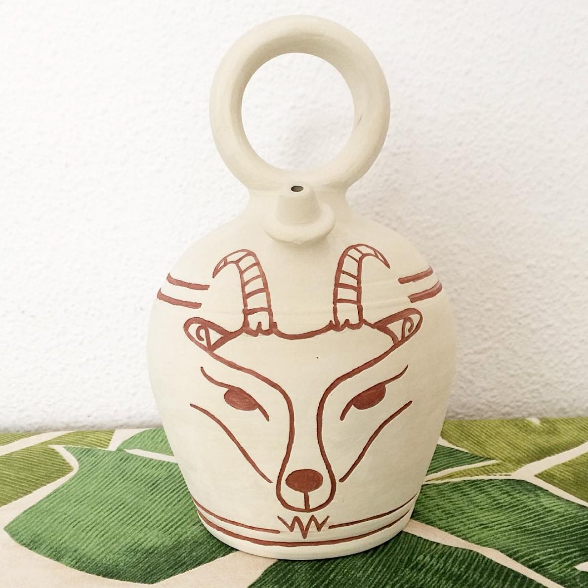Goat Flagon - Light Brown -