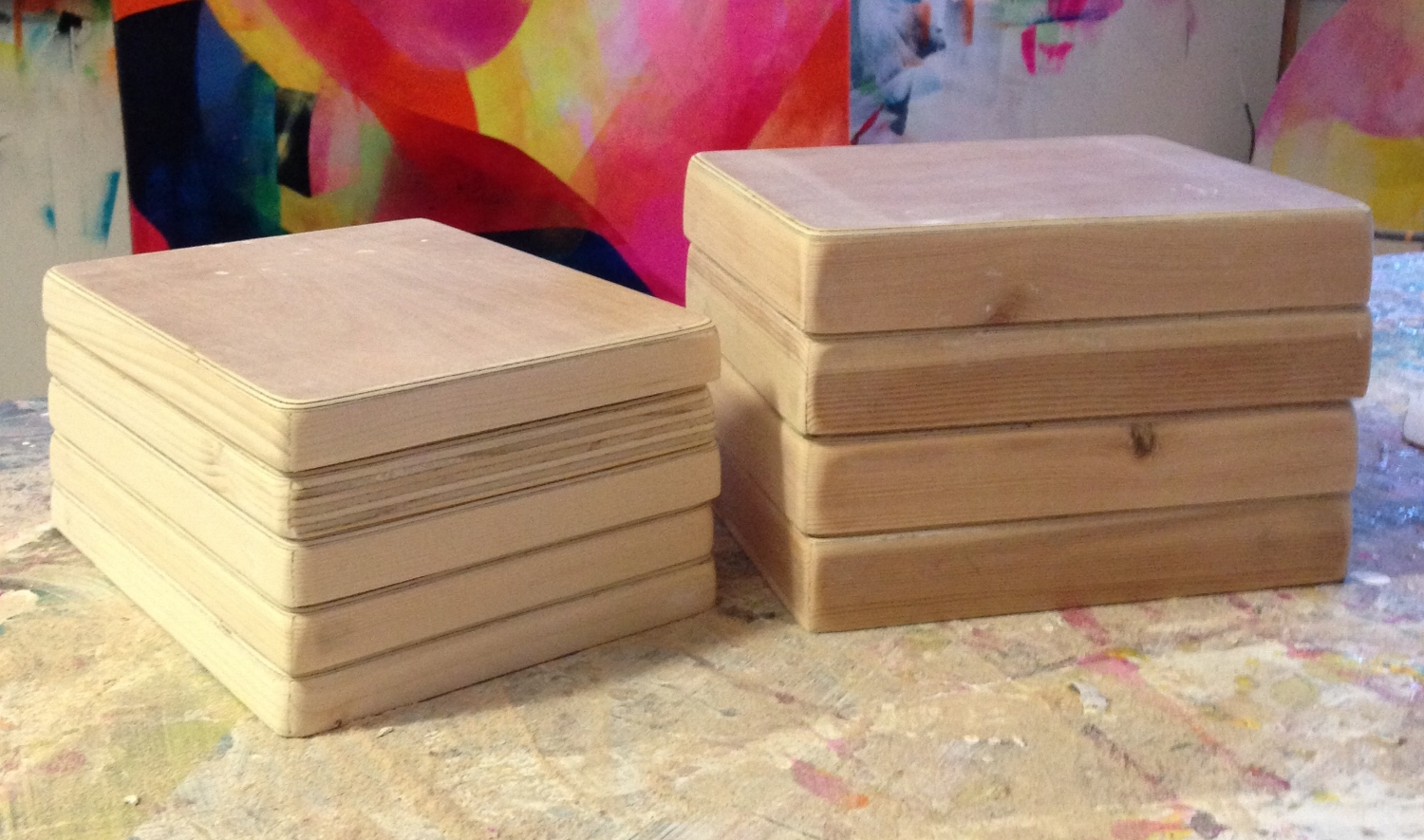 Handmade plywood boxes