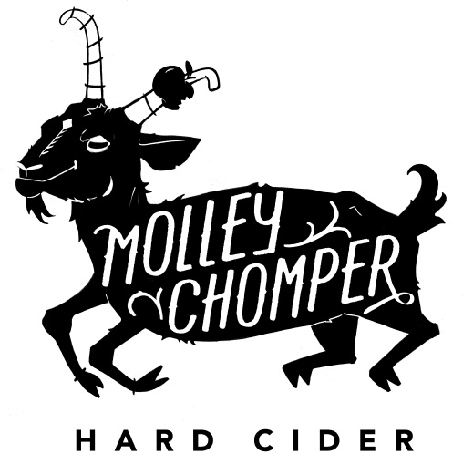 Molley Chomper logo and labels designed by  Jenny Pfost Design