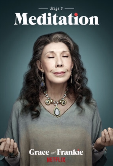 Lily Tomlin in one-of-a-kind necklace