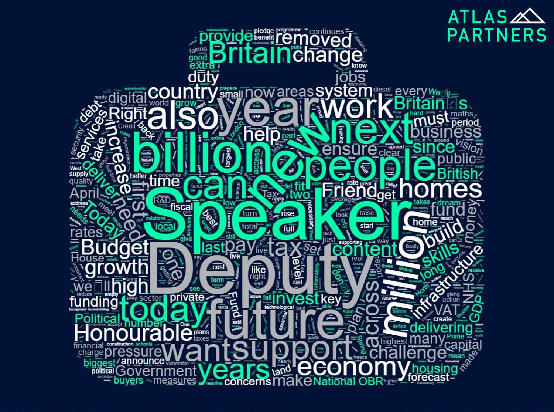 2017 Autumn Budget word cloud