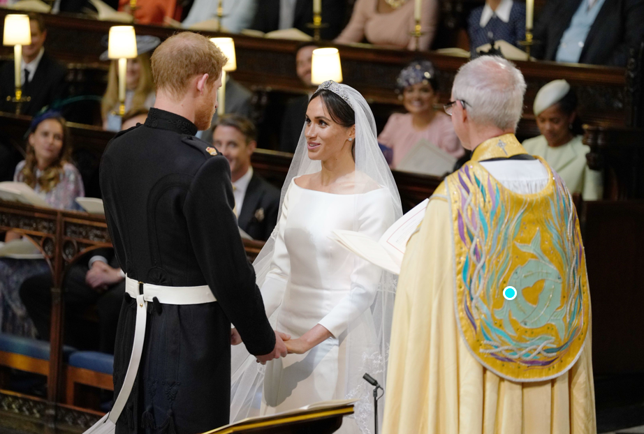 Prince Harry and Megan Markle exchange vows