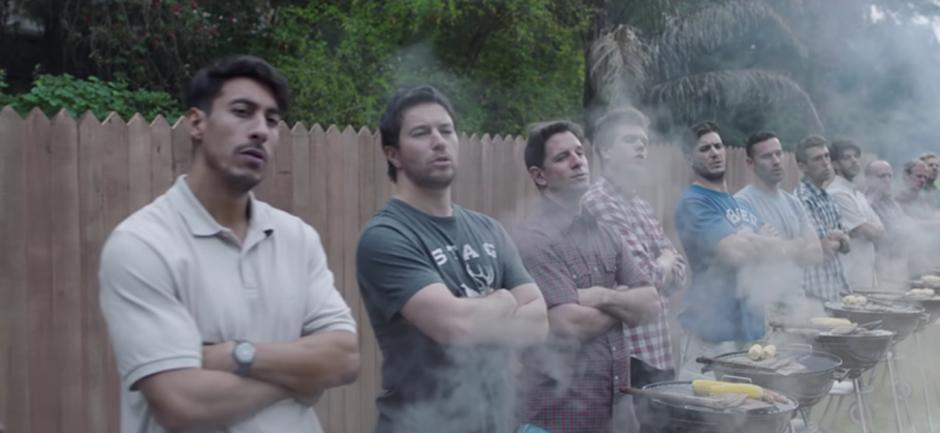 Gillette, Men BBQing.png