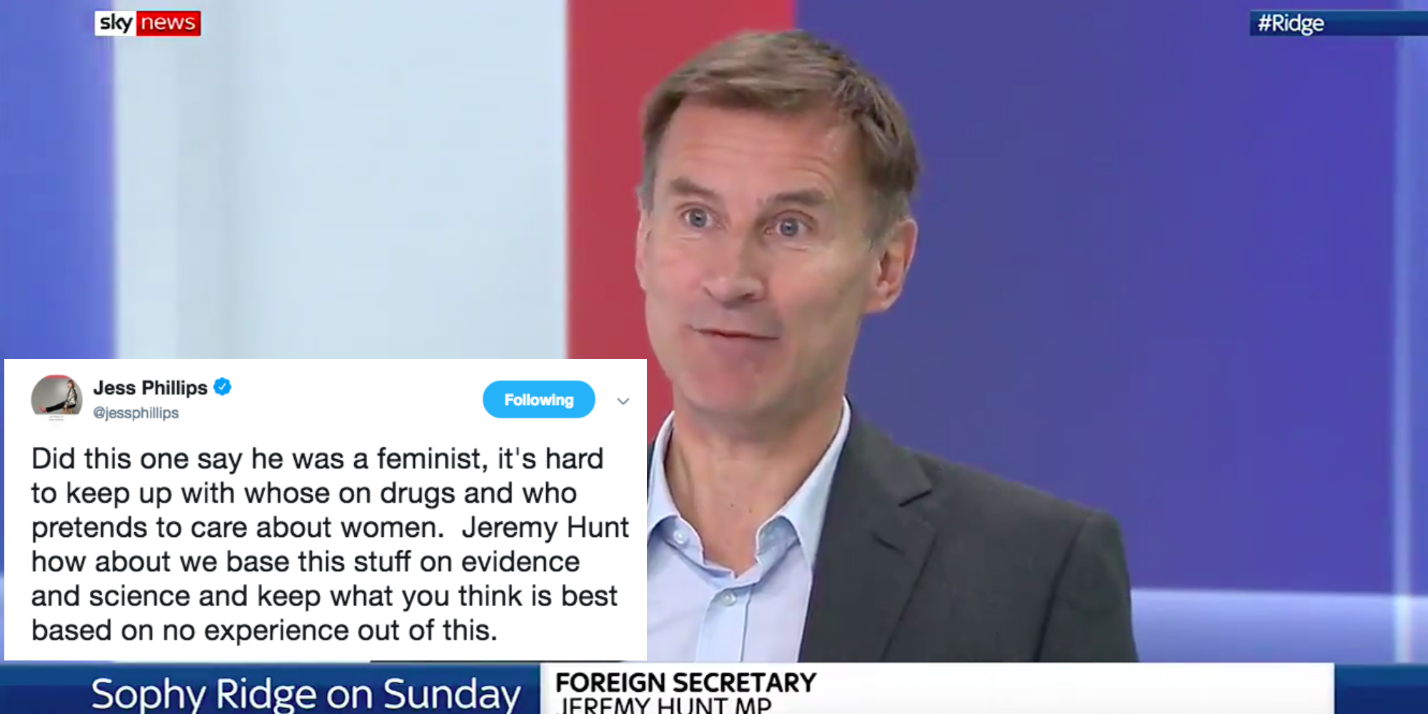 Jeremy Hunt MP on Sky News